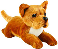 Realistic Staffordshire Bull Terrier Dog Soft Cuddly Toy, 30cm by Suki Gifts