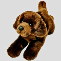 Realistic Yomiko Chocolate Laying  Soft Toy 30cm
