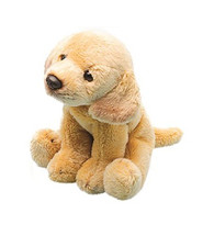 Suki Sitting Yellow Labrador Dog Soft Toy