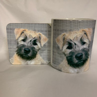 Soft Coated Wheaten Terrier Puppy Mug & Coaster Set