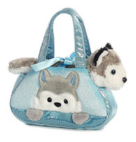 Aurora World Fancy Pals Pet Carrier, Peek-A-Boo Husky by AURORA