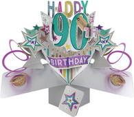 Second Nature POP166A 90th Birthday Pop Up Card