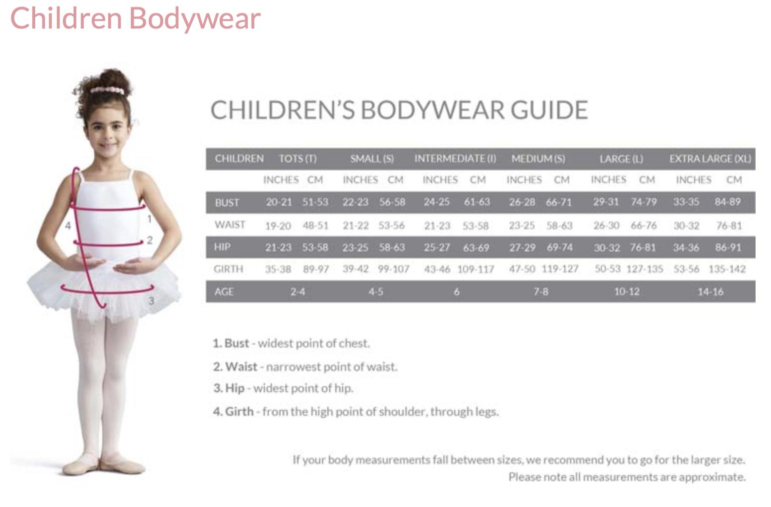 Children Bodywear Guide