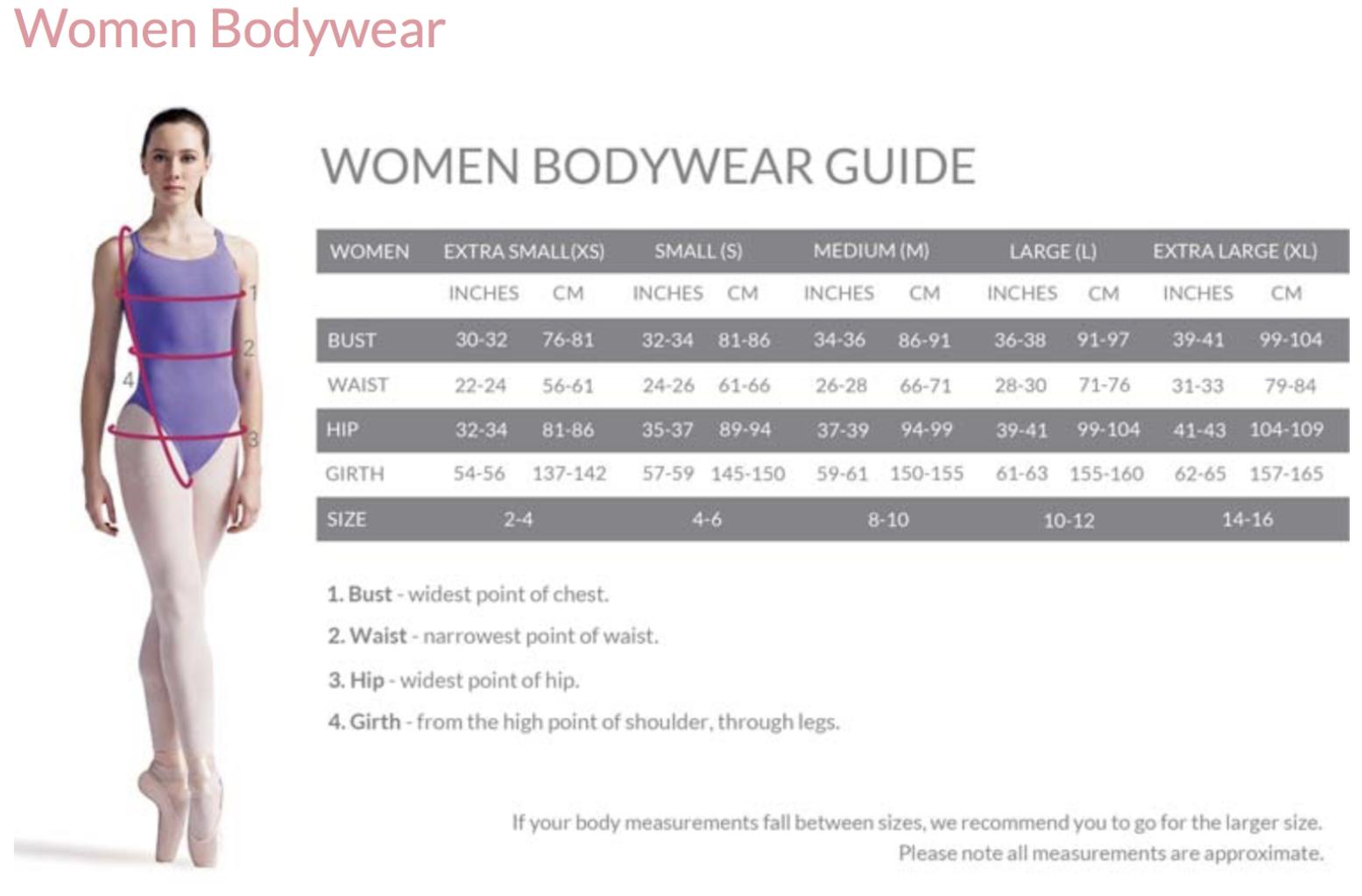 Women Bodywear Guide