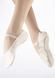 Bloch White Leather Arise Ballet Shoes