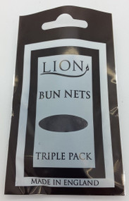 Lion Dark Brown Bun Net 3pk