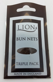 Lion Light Brown Bun Net 3pk