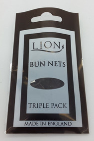 Lion Medium Brown Bun Net 3pk