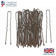 BROWN Tappers and Pointers 65MM Heavy Gauge Waved Hair Pins