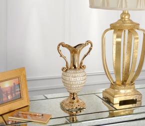Amber Floral Trophy Vase