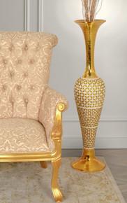 Golden Pearl Tall Vase