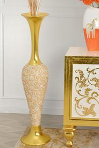Radiant Pearl Tall Vase
