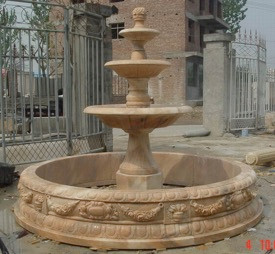 Classic 3 Tier Coral Marble Fountain