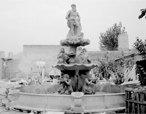 Monumental Zeus Fountain in  White Marble