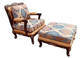 Alicia Charlotte Chair and Ottoman