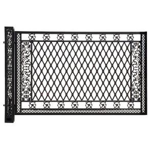 Bridgeton Moore Aluminum Large Fence Panel with Post (KIT)