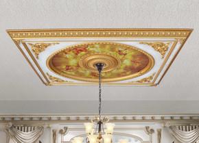 Neo Classical Design Rectangular Ceiling Medallion 6 Ft X 8 Ft