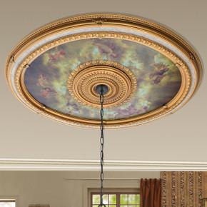 Sistine Oval Chandelier Ceiling Medallion