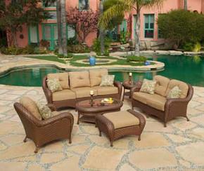 Villanova Woven Outdoor 6 Piece Seating Set (KIT)