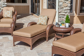 Villanova Woven Outdoor Chaise Lounge