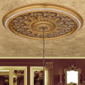 Brocade Oval Chandelier Ceiling Medallion