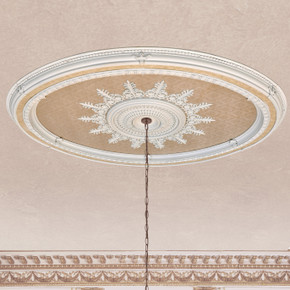 Blanco Oval Chandelier Ceiling Medallion