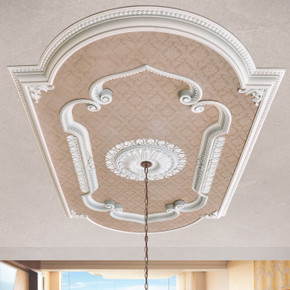 Blanco Rectangular Chandelier Ceiling Medallion