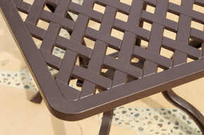 Savannah Outdoor Aluminum End Table