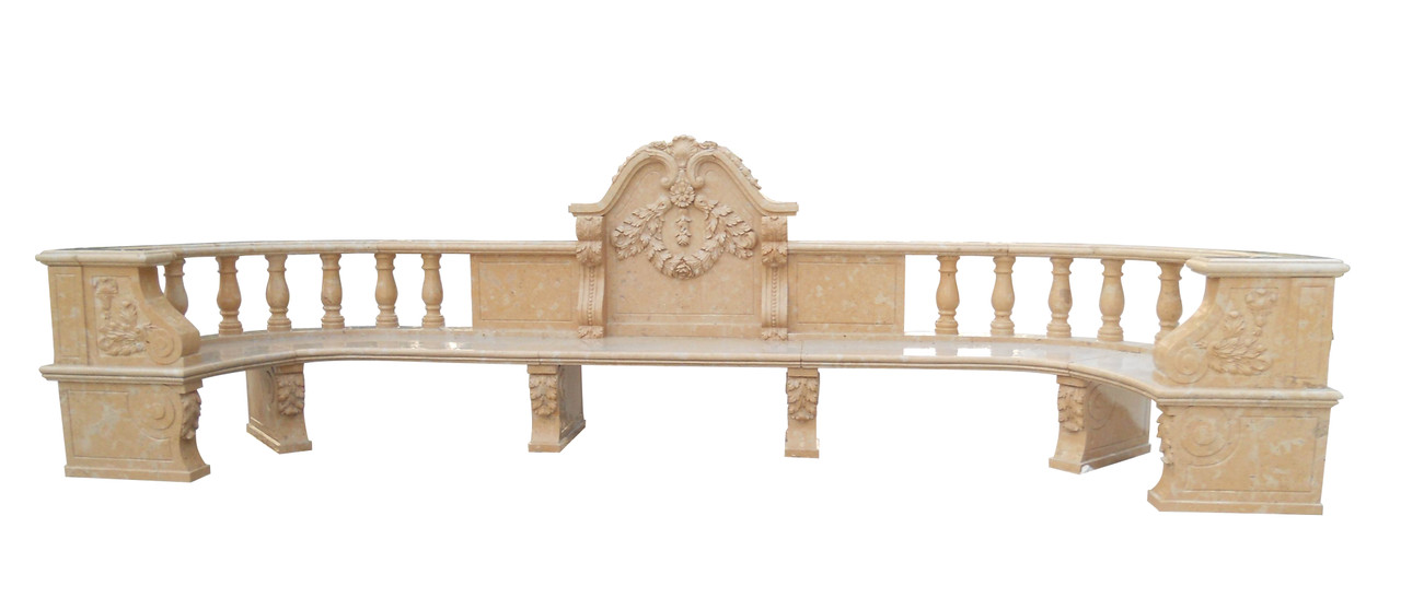 Magnificent Beige Marble Bench YS006 - AFD Home