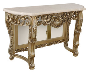 Platine Petticoat Crema Marble Top Console Table