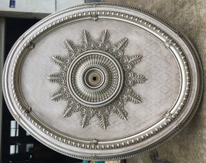 Ash Oval Ceiling Medallion