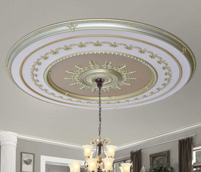 Rose Gold Grand Ceiling Medallion 98 Inch Round