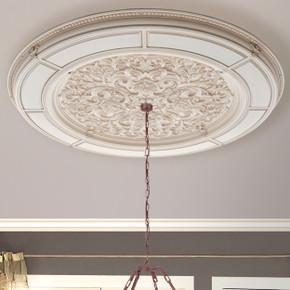 Alluring Carve Cream Round Ceiling Medallion