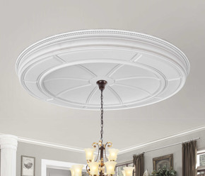 Refined Large Round Ceiling Medallion