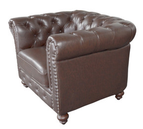 Classic Chesterfield Chair Brown