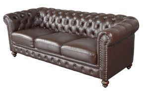 Classic Chesterfield Brown Sofa