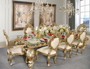 Platine Rococo Dining Table Room Set of 9