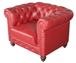 Classic Chesterfield Chair Red