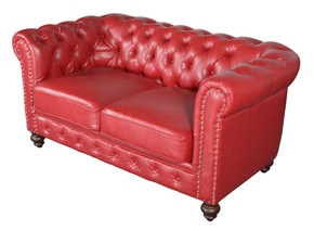 Classic Chesterfield  Loveseat Red