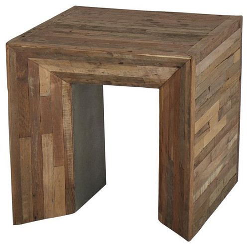Massieve Side Table.Arcadian Wood Massive Side Table Afd Home