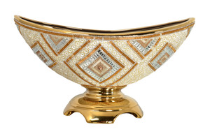 Golden Reflections Center Bowl