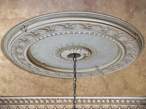 Champagne Large Round Ceiling Medallion