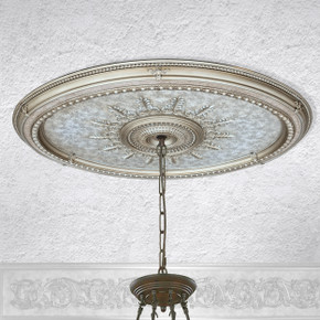 Champagne Large Oval Ceiling Medallion