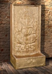 Ganesha Fountain With Pump Glossy Gold Black