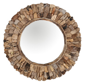 "Wood Chip 24"" Mirror"