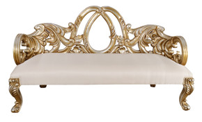 Platine Heavy Carved Bench