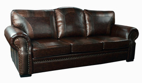 Botswana Croc and Micro Leather Sofa