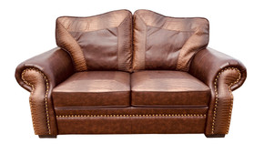 Botswana Croc and Micro Leather Loveseat