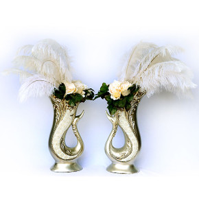 Crystal Swan Arrangement Set of 2