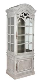 Mystique Gray Georgian Curio Cabinet